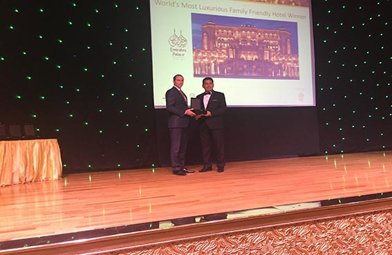 قصر الإمارات يحصد جائزة أفضل فندق عائلي في العالم