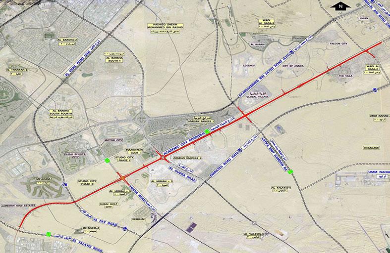 طرق دبي ترسي عقد مشروع المرحلة الثانية لمحور شارع المدينة الجامعية بتكلفة 474 مليون درهم
