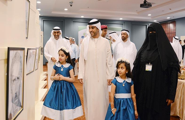عبدالعزيز النعيمي يحضر حفل جائزة فضاءات إبداعية للأيتام
