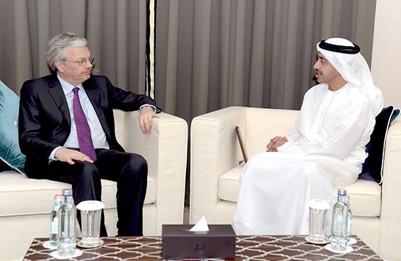 عبدالله بن زايد يستقبل نائب رئيس الوزراء وزير الشؤون الخارجية والشؤون الأوروبية البلجيكي