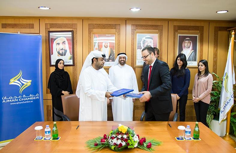غرفة عجمان توقع اتفاقية تعاون لمركز عجمان للمسؤوليّة المجتمعيّة