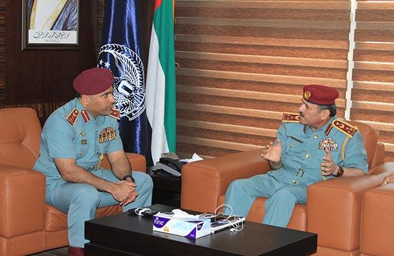 قائد عام شرطة الفجيرة يستقبل وفداً من وزارة الداخلية