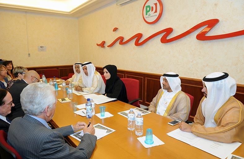 لجنة الصداقة البرلمانية الإماراتية الايطالية تعقد اجتماعا في روما