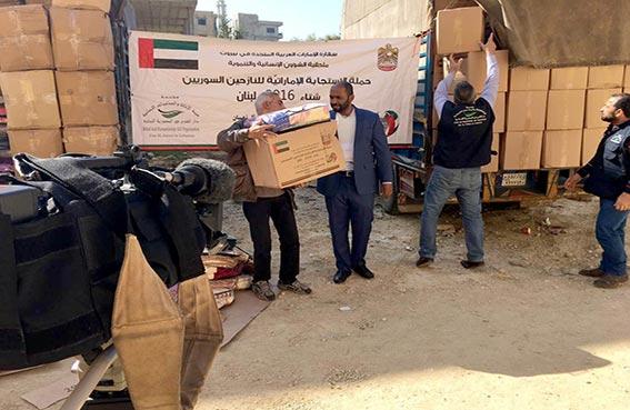 مؤسسة خليفة للأعمال الإنسانية تواصل توزيع مساعدات على 1450 أسرة سورية في طرابلس