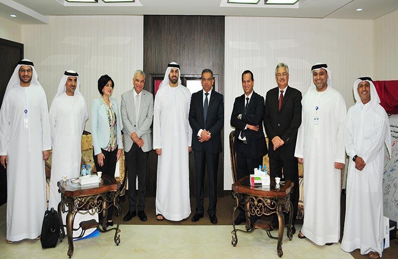 مجموعة بريد الإمارات ترحب بوفد البريد المصري