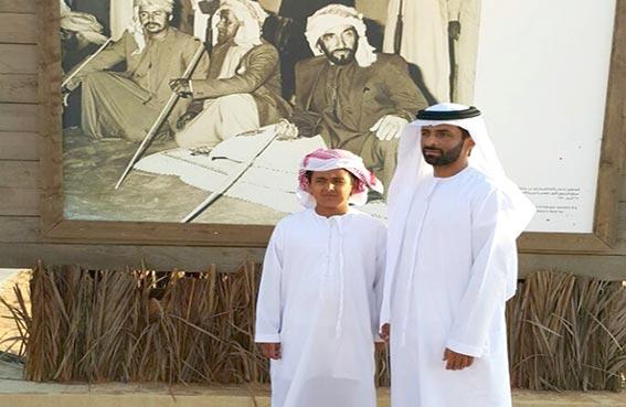 محمد بن حم يزور مهرجان الشيخ زايد التراثي2014
