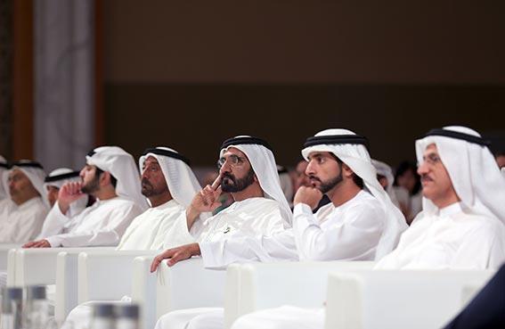 محمد بن راشد يشهد الجلسة الافتتاحية للمؤتمر الأول لمنظمة المناطق الحرة العالمية