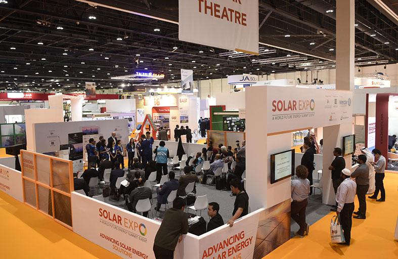 معرض الطاقة الشمسية في القمة العالمية لطاقة المستقبل يضع الأسطح الشمسية في دائرة الضوء