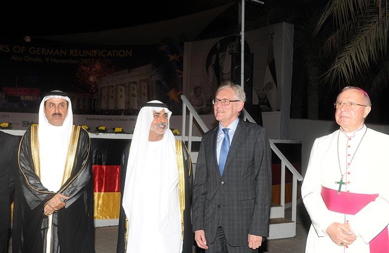 نهيان بن مبارك وصقر بن غباش يحضران حفل استقبال السفارة الألمانية