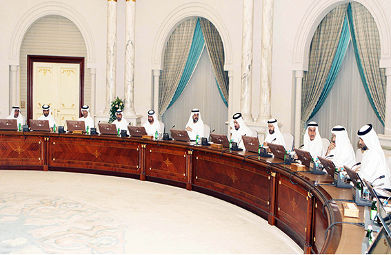 ولي عهد الشارقة يترأس اجتماع المجلس التنفيذي
