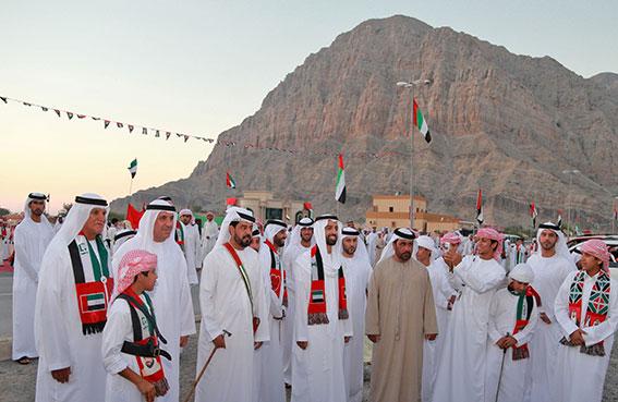 ولي عهد رأس الخيمة يشهد احتفالات منطقة الجير باليوم الوطني الـ42