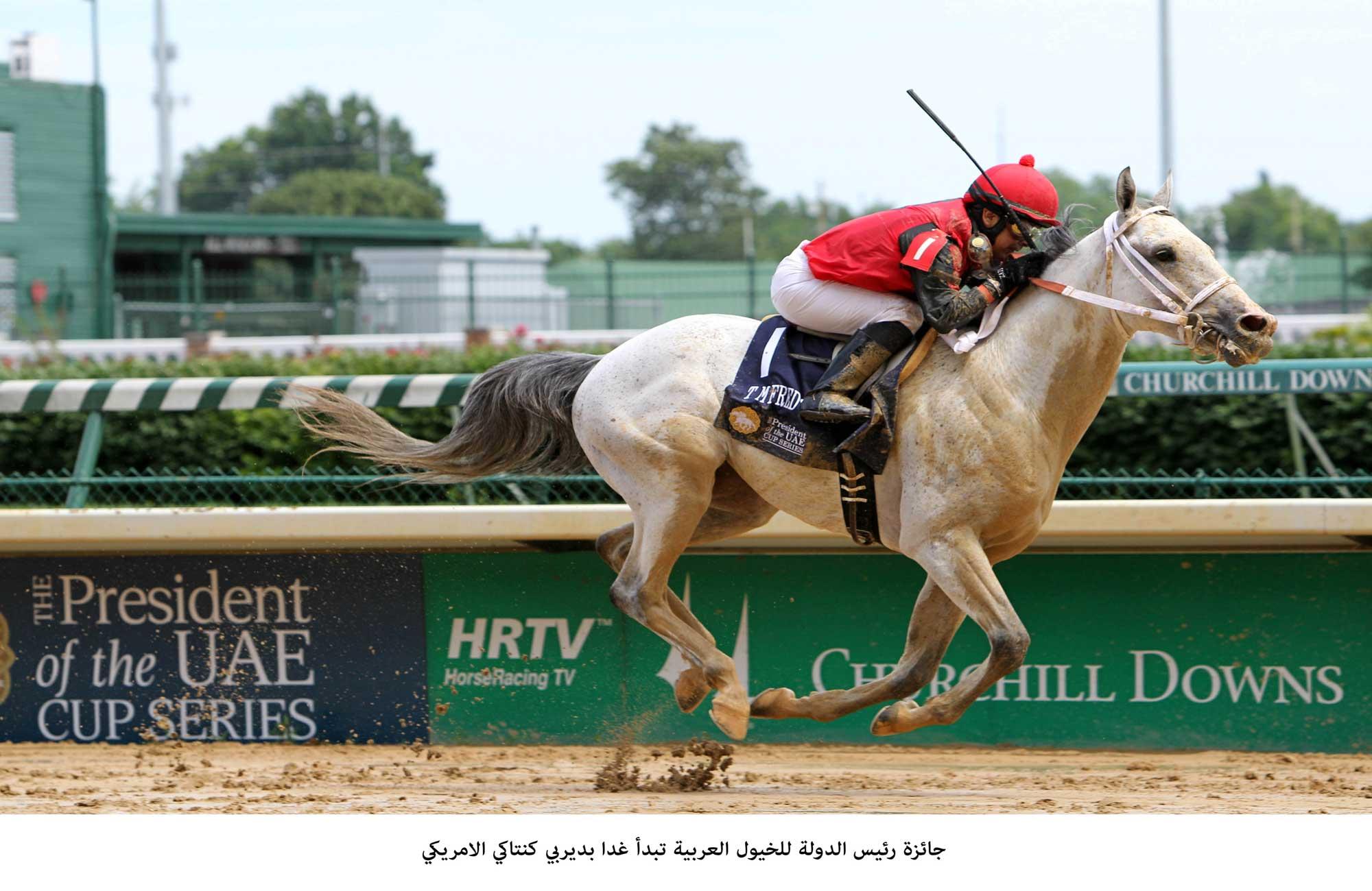 جائزة رئيس الدولة للخيول العربية تبدأ اليوم بديربي كنتاكي الأمريكي