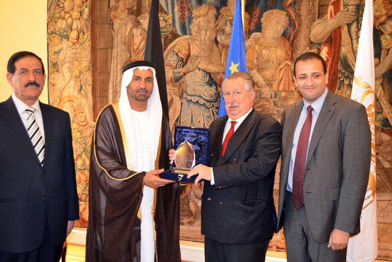 وفد البرلمان العربي يلتقي رئيس مجلس النواب البلجيكي في بروكسل