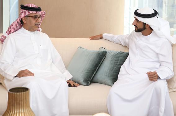 حمدان بن محمد بن راشد يستقبل رئيس الاتحاد الآسيوي لكرة القدم