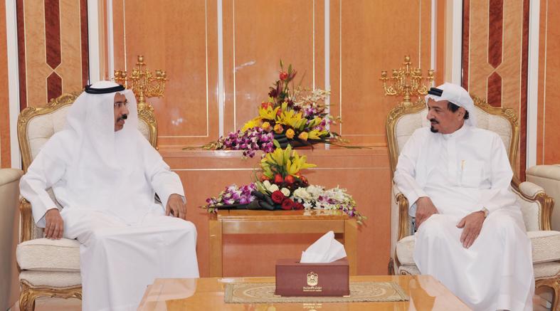 حاكم عجمان يستقبل رئيس المجلس الوطني الاتحادي