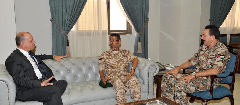 الأمير فيصل بن الحسين يستقبل رئيس الأركان
