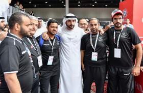 حمدان بن محمد يزور فعاليات دورة الألعاب الإقليمية التاسعة للأولمبياد الخاص