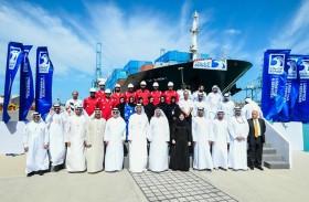 ذياب بن محمد يزور ميناء خليفة ويطلع على خطط «أدنوك للإمداد والخدمات»