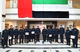 شرطة أبوظبي تكرّم 10 منتسبين متميزين