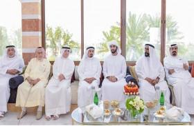 حاكم عجمان يحضر مأدبة غداء أقامها محمد بن علي النعيمي