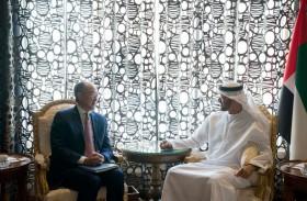 محمد بن زايد يستقبل رئيس مجموعة البنك الدولي