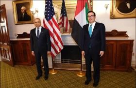 عبيد حميد الطاير يبحث مع وزير الخزانة الأمريكي تطورات العلاقات الاقتصادية