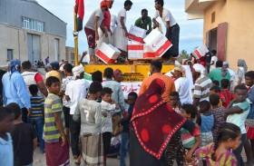 هيئة الهلال الأحمر تسير 3 بواخر مساعدات إلى سقطرى تحمل آلاف الأطنان من المواد الرمضانية