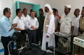 الهلال الأحمر الإماراتي يعيد تأهيل المركز الصحي بمديرية شقرة بأبين