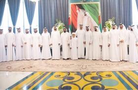 محمد بن زايد يحضر حفل استقبال أقامه  سلطان علي الخاطري بمناسبة زفاف نجله
