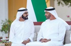 محمد بن راشد ومحمد بن زايد يتبادلان الأحاديث حول القضايا التي تهم الوطن والمواطن