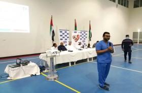 بلدية مدينة أبوظبي تثقف عمال مصفح بطرق الوقاية من فيروس كورونا ضمن مبادرة «عاصمتي»