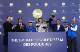 خيول الإمارات تحصد لقب سباقي «جنيز الفرنسي»