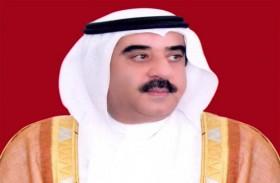 سعود بن راشد المعلا يؤدي صلاة عيد الفطر بمسجد الشيخ زايد في أم القيوين