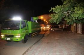 بلدية مدينة دبا الحصن تكمل مشروع التعقيم الوطني