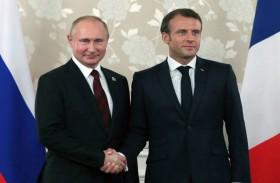 ماكرون يستقبل بوتين قبل قمة السبع