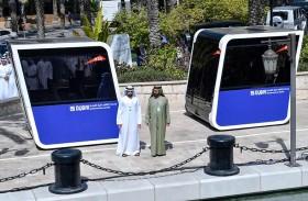 محمد بن راشد يشهد الاختبارات الأولية لوحدات التنقل ذاتية القيادة الأولى من نوعها في العالم