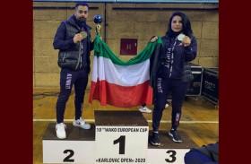 فضية وبرونزية للكويت في بطولة أوروبا للكيك بوكسينغ