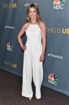 الصحفية ناتالي موراليس خلال حضورها حفل الموسم لمحطة ان بي سي هذه هي الولايات المتحدة في نقابة المخرجين الأمريكية بلوس انجليس.    (أ ف ب)