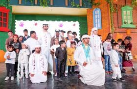 منصور بن محمد يشارك في احتفالية اليوم العالمي  لمتلازمة داون بالقرية العالمية
