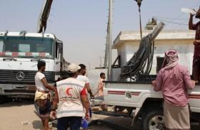 تشغيل 10 مضخات قدمتها الإمارات لمؤسسة المياه بعدن