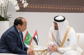محمد بن زايد يستقبل الرئيس الموريتاني