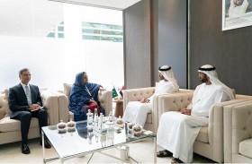 محمد بن زايد يلتقي عددا من رؤساء الوفود و وزراء الدفاع المشاركين في آيدكس