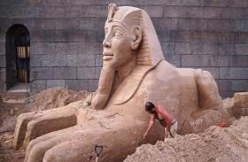 العثور على تمثال جديد لأبي الهول