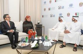 محمد بن راشد يستقبل أمينة محمد نائبة أمين عام الأمم المتحدة