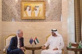 محمد بن زايد يستقبل رئيس الوزراء الأسترالي ويبحثان علاقات التعاون والمستجدات الاقليمية والدولية