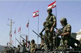 الجيش اللبناني يتأهب  على الحدود مع إسرائيل