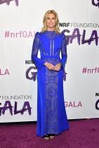 نيكي تايلور خلال حضورها حفل اتحاد التجزئة الوطني 2018 في بيير بمدينة نيويورك.    (ا ف ب)