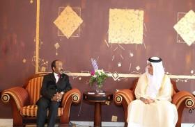 حاكم رأس الخيمة يستقبل سفير أثيوبيا