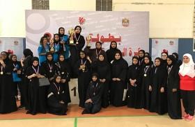 «فتيات عجمان» يحصد لقب «بطولة كرة الطائرة للفتيات»