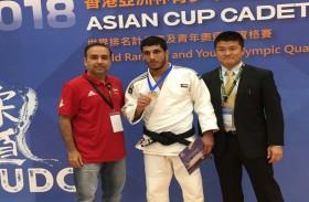 خليفة الحوسني يهدي الإمارات فضية بطولة آسيا للجودو